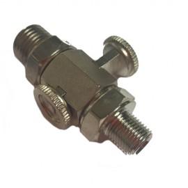 PETROL TAP PUSH/PULL 1/4 X 1/8 GAS THREAD (O.M.G.)