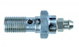 SINGLE BLEED BOLT M10x1 STAINLESS